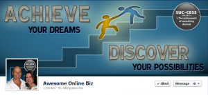 Awesome Online Biz Facebook Timeline Cover and Profile designed by Simply Social Media solutions