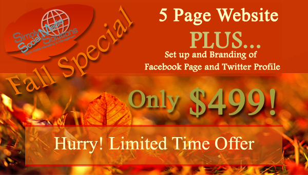 Fall Web Design and Social Profile Special