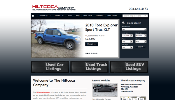 Hiltcoca - Quality Used Vehicles based in Winnipeg, Manitoba